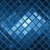 Mosaïque bleue Photographie stock libre de droits