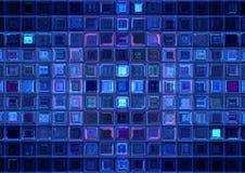 Mosaïque bleue Photographie stock