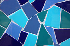 Mosaïque bleue Images libres de droits