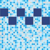 Mosaïque bleue et beige de carreau de céramique dans la piscine illustration libre de droits