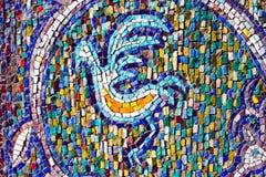 Mosaïque colorée d'un oiseau Image libre de droits