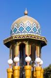 Mosaïque colorée d'un toit oriental Images libres de droits