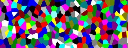 Mosaïque colorée de tuiles, panoramique illustration libre de droits
