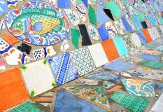 Mosaïque colorée des tuiles avec des poissons Image stock