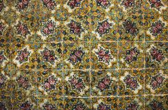 Mosaïque colorée et carreaux de céramique dans l'étable persane traditionnelle image stock