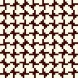 Mosaïque créative répétée de puzzle Conception sans couture géométrique de modèle Texture de surface d'art de pixel Camouflage co Photographie stock libre de droits