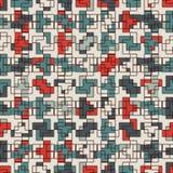 Mosaïque créative répétée de puzzle Conception sans couture géométrique de modèle Texture de surface d'art de pixel Camouflage co Photographie stock