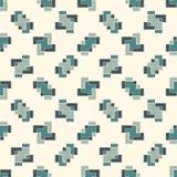 Mosaïque créative répétée de puzzle Conception sans couture géométrique de modèle Texture de surface d'art de pixel Camouflage co Images libres de droits