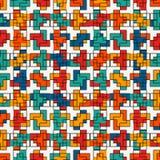 Mosaïque créative répétée de puzzle Conception sans couture géométrique de modèle Texture de surface d'art de pixel Camouflage co Photos libres de droits