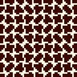 Mosaïque créative répétée de puzzle Conception sans couture géométrique de modèle Texture de surface d'art de pixel Camouflage co Image libre de droits