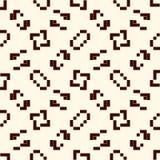 Mosaïque créative répétée de puzzle Conception sans couture géométrique de modèle Texture de surface d'art de pixel Camouflage co Photo stock
