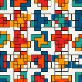 Mosaïque créative répétée de puzzle Conception sans couture géométrique de modèle Texture de surface d'art de pixel Camouflage co Photo libre de droits