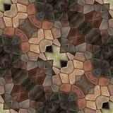 Mosaïque décorative capable de tuile abstraite dans le style de vintage Image libre de droits