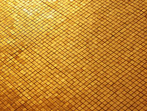 Mosaïque d'or Image stock