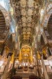 Mosaïque d'or dans l'église de Martorana de La, Palerme, Italie Photo libre de droits