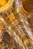 Mosaïque d'or dans l'église de Martorana de La, Palerme, Italie Image libre de droits