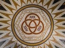 Mosaïque dans l'abbaye de l'église de Dormition du Cenacle, dire photo libre de droits
