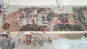 Mosaïque dans le monastère de Darjiu Photos libres de droits