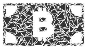 Mosaïque de billet de banque d'argent liquide de Bitcoin des triangles illustration stock