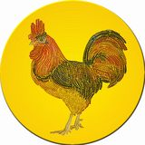 Mosaïque de coq décorative Image libre de droits