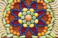 Mosaïque de fruits et légumes Images stock