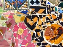 Mosaïque de Gaudi à Barcelone Photographie stock