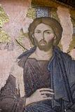 Mosaïque de Jésus-Christ dans l'église de Chora Images libres de droits