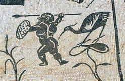 Mosaïque de la Chambre de Neptune, ville romaine d'Italica, Andalousie, Espagne Photographie stock libre de droits