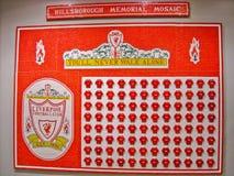 Mosaïque de mémorial de Hillsborough photo stock