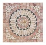 Mosaïque de marbre avec la forme de médaillon Photographie stock libre de droits