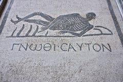 Mosaïque de marbre exhibée chez Roman Museum national photographie stock libre de droits