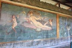 Mosaïque de mur à Pompeii images stock