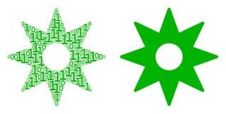 Mosaïque de New Star des éléments binaires illustration libre de droits
