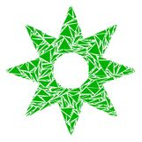 Mosaïque de New Star des triangles illustration libre de droits