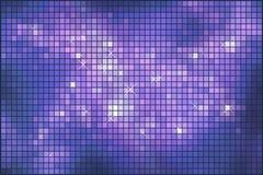 Mosaïque de pétillement violette abstraite Photos libres de droits