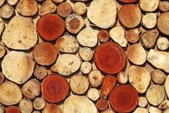Mosaïque de rondin de bois de construction photo stock
