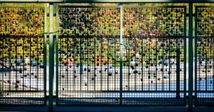 Mosaïque de serrure d'amour, Cologne, Allemagne Photos stock