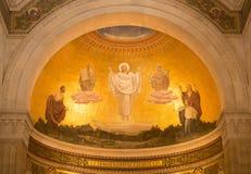 Mosaïque de transfiguration dans la cathédrale sur le bâti le Thabor, Israël Photographie stock libre de droits
