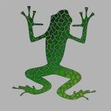 Mosaïque de vecteur de grenouille verte illustration stock