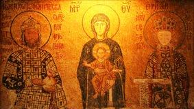 Mosaïque de Vierge Marie et Infa Photographie stock libre de droits