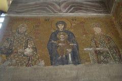 Mosaïque de Vierge Marie et Infa Photographie stock