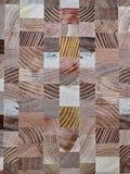Mosaïque en bois Photographie stock libre de droits