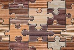 Mosaïque en bois de puzzle de Brown sans couture Photo libre de droits