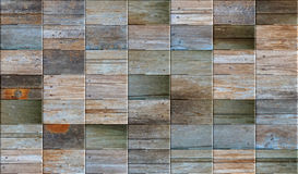 Mosaïque en bois multicolore Photo stock