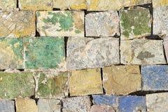 Mosaïque en pierre colorée avec le modèle chaotique, texture sans couture de photo de fond image libre de droits