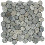 Mosaïque en pierre grise et noire blanche tachetée Photographie stock