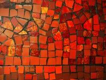 Mosaïque en pierre rouge et jaune photo stock