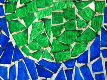 Mosaïque en verre colorée Photo libre de droits