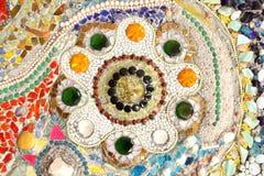Mosaïque en verre colorée art. de fond de mur. Images libres de droits