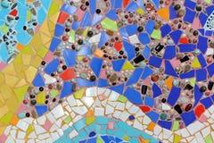 Mosaïque en verre colorée art. de fond de mur. Image libre de droits